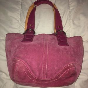 Authentic Coach Bag...pink suede